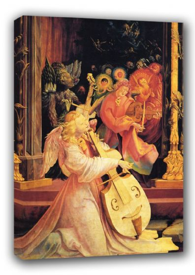 Grunewald, Matthias: The Concert of the Angels Fine Art Canvas. Sizes: A3/A2/A1 (00484)